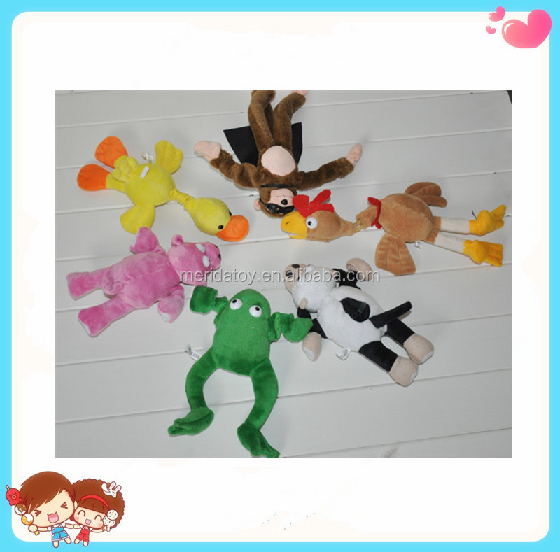 2016 new design hout sell plush flying monkey with sound flying anmial toy