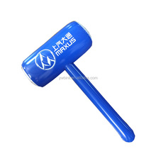 Blue color with logo printed inflatable hammer toy EN71&phthalate free air hammers for promotion