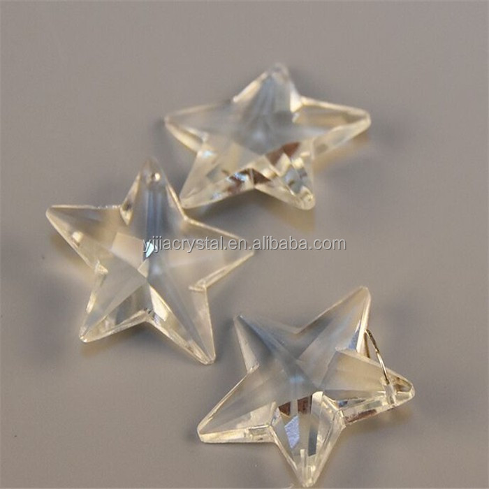 Free Shipping 50pcs 20mm Clear Star Crystal Beads Wholesale Star Charms For pendants