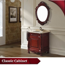 Antique vanity,lacquered bathroom mirror cabinets dark brown,acacia wood vanity