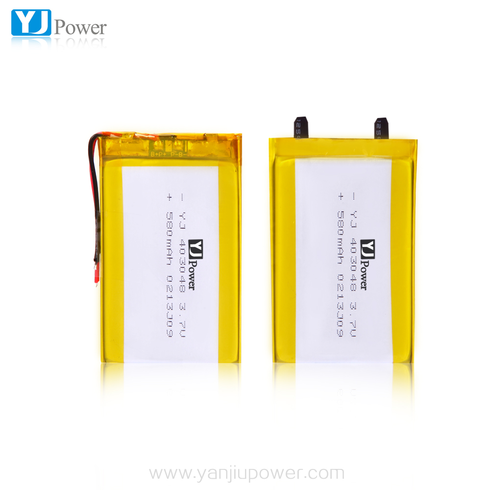 403048 580mAh 3.7V Rechargeable Li-Polymer Battery