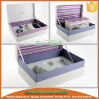 cosmetic gift set packaging box with eva insert