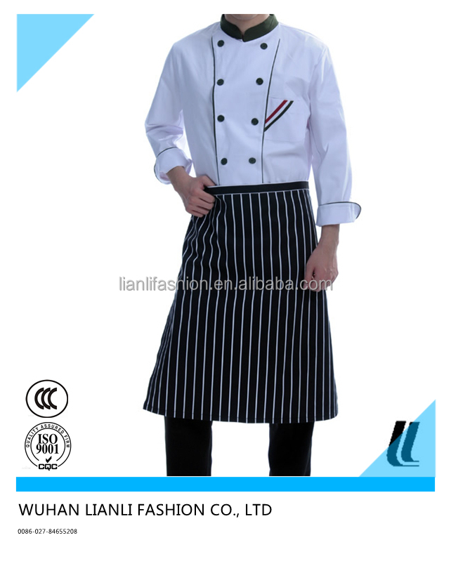 fashionable anti-oil hotel and restaurant cook uniform server uniform