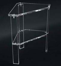 Transparent acrylic corner coffee/tea table, triangle plastic end table