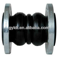 DN100 Double sphere flanged rubber expansion joints