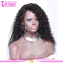 22 Inches Malaysian Deep curly Hair Long Side Part Thin Skin Silk Base Full Lace Wig