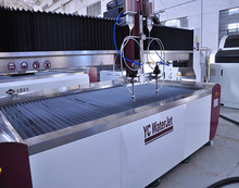 double heads water jet cutter