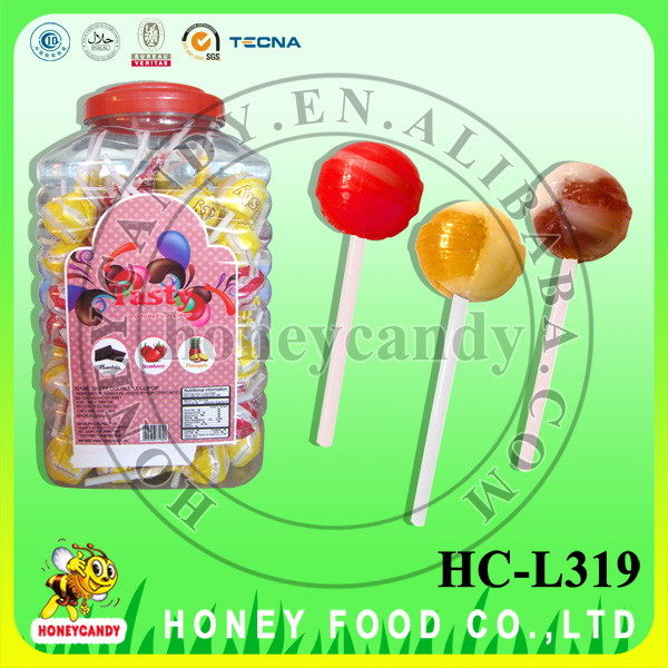 2 in 1 Tasty Chewing Gum Lollipop Sweet and Yogurt Candy