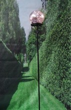 Courtyard decor glass lilac solar garden lighting pole light