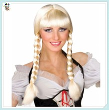 Adult Inga Oktoberfest Beer Braids Blonde Pigtails Cosplay Wigs HPC-0019