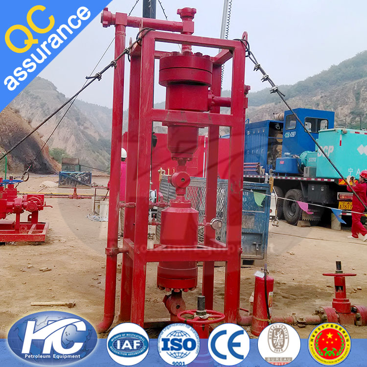 Oil and gas field sand solid separation centrifugal separator / hydrocyclone separator