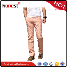mens fashionable cheap pants cotton cargo trousers with pockets for men