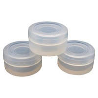 2ml Non stick food grade transparent silicone bho oil jar dab wax container