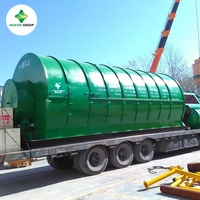 Turn Key Project 10kg to 30T Capacity Waste Tyre/Tire Pyrolysis Machine To Oil With Integrated Design