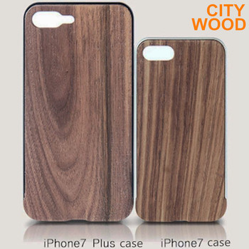 2017 new phone case with wood skin and aluminium frame