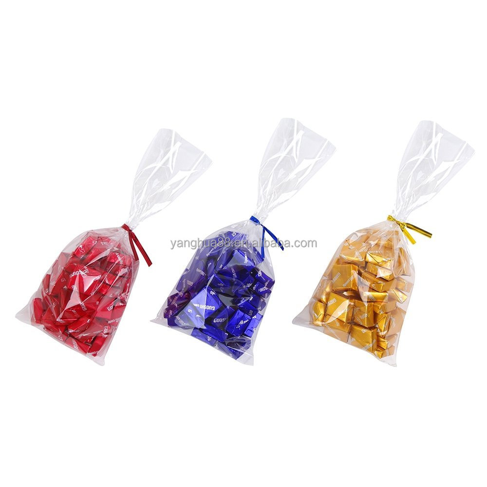 Clear poly plastic bags free shipping and sample bopp header bags opp bag with card
