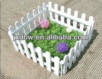 Decorative Small Rural Garden Fence White Wood Fencing Wood Garden Fence