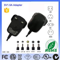 Short Circuit Protection UK Plug 6W 5V1.5A 5V 1.5A Usb AC Best Buy Power Adapter Factory