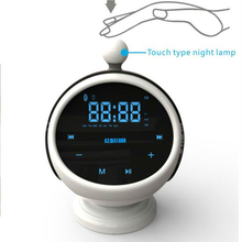 Portable Speaker with FM Radio USB Input Bluetooth Alarm Clock