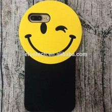 2016 New products lovely smile face gel silicone mobile phone shell for iphone SE 5S
