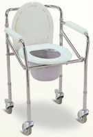 Foldable and Mobile Commode Chair