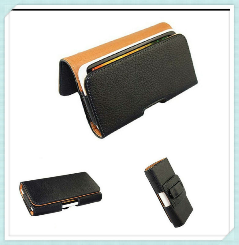 Litchi pattern with Holster Belt Clip PU leather sheath for iphone 5