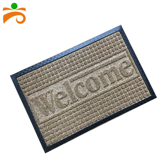 Polypropylene pile surface rubber backing floor mat