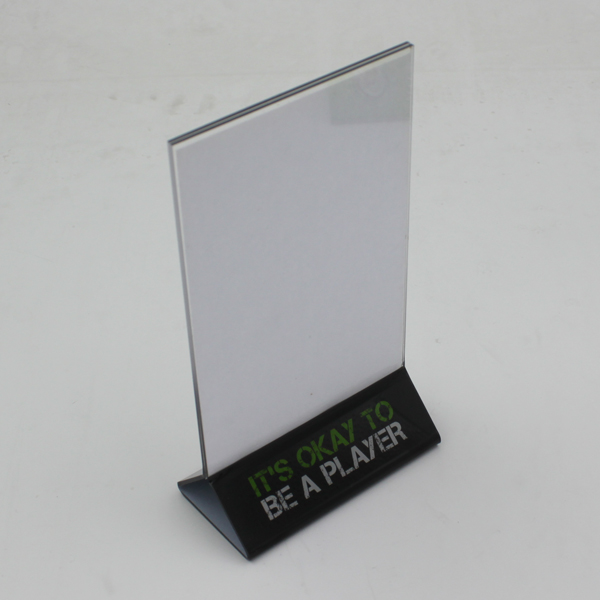 Acrylic Sign Holder Clear Table Card Display
