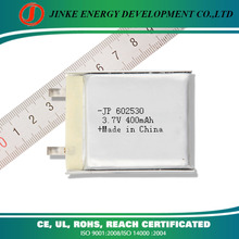Cheap price 3.7v 400mah lithium ion battery raw material with high quality lithium battery cell