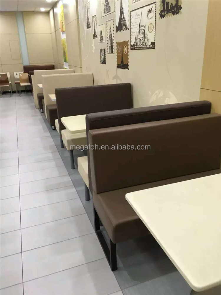 Simple design muslim restaurant booth table sets(FOH-CK12)