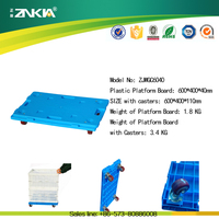 New PP plastic warehouse moving dolly cart