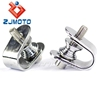 "ZJMOTO 1 1-1/4"" FOOTREST CLAMP MOTORCYCLE FOOT PEGS PEDAL CLAMPS FIT TO HARLEY CUSTOM CAFE RACER SOFTAIL"