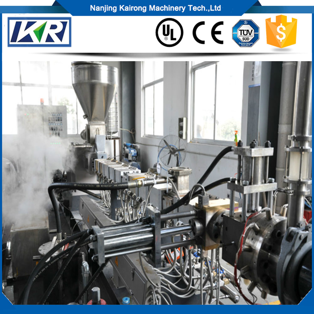 Professional Compound fertilizer production line/PP/PE filler twin screw extruder