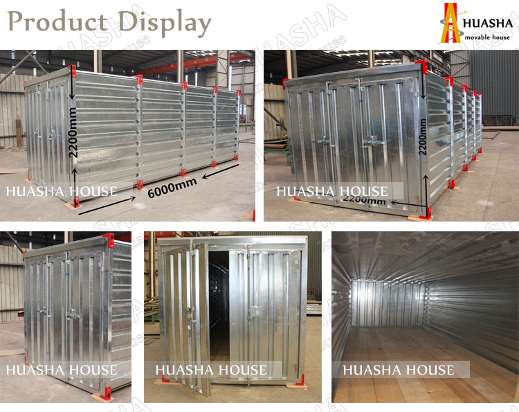The flat pack prefab galvanized container storage