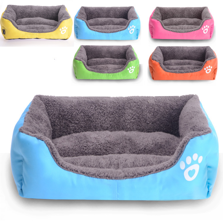 Ultra Soft Colorful Pet Bed Pet Sofa Lovely Dogs Cats Sofa Bed 3 Sizes