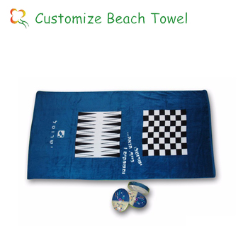 wholesale china 100% cotton printed velour travel beach towel