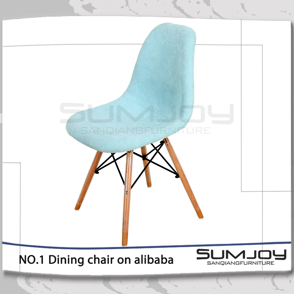 Modern lovely children wooden plastic dining chair