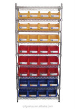 Wire shelving with bins units WSR3614-008