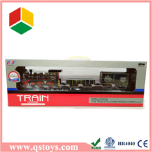 Children classic smoking model train toy set for sale