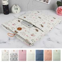 "New Cotton Linen Cloth Laptop Bag Cover for Macbook Air Pro 11.6"" 12 13.3"" 15"" Laptop Sleeve case,The style of fresh and cute"