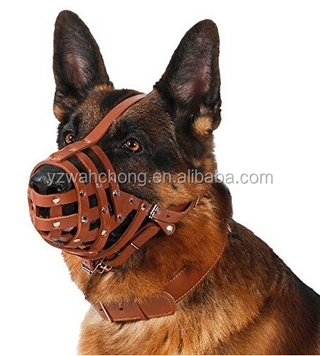 Comfortable Leather Dog Muzzle Mouth /Dog Mouth Mask