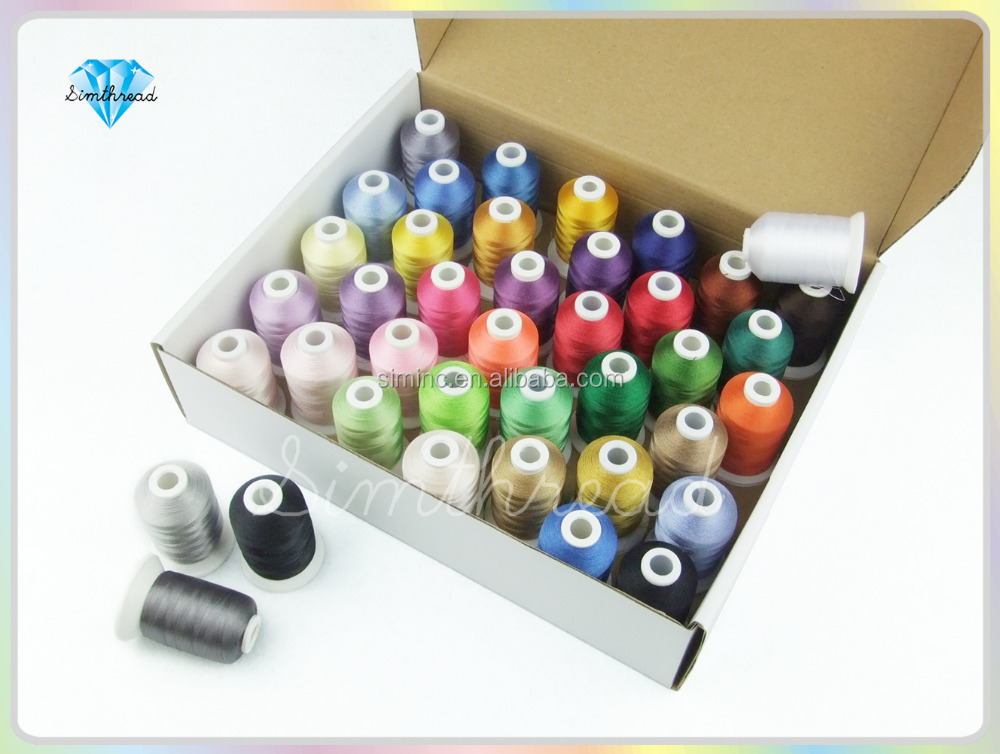 40 Brother Colors/kit Polyester Embroidery Thread 1100Yrds/Spool