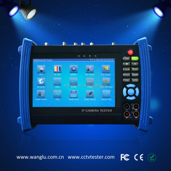 7 inch touch screen CVI tester with IP and poe test