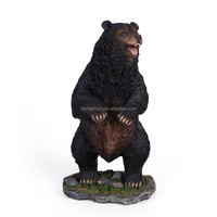 DS0500 black bear statue home decoration
