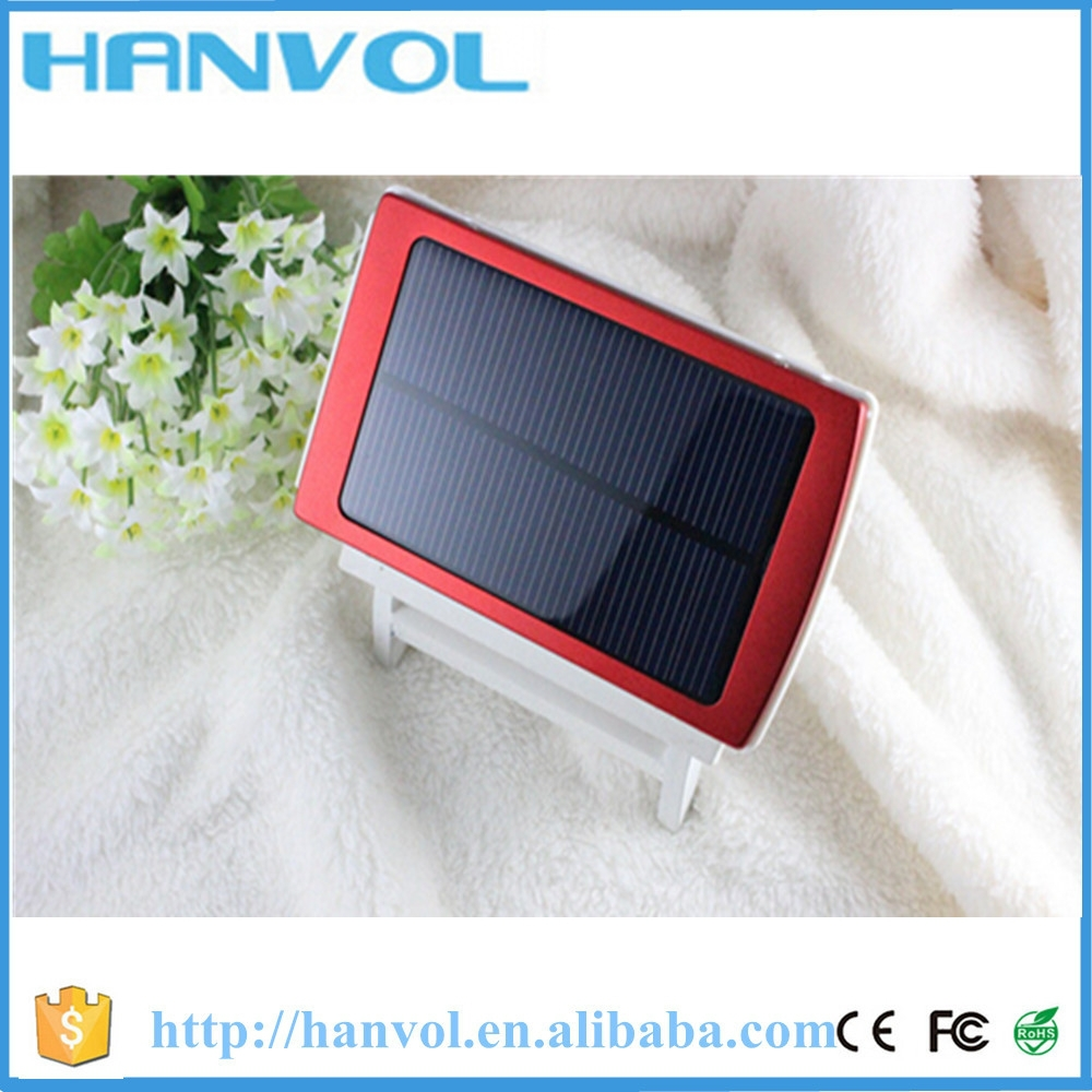 Wireless solar 10000mah power bank charger