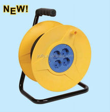 50m small german type cable reel electric socket hand hold 4Outlets extension cable reel