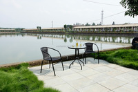 leisure furniture sets popular rattan chair rattan raw material outdoor glass tea table design