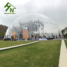 Event Fiberglass Dome House Tent Exhibition Dome Marquee With PVC Cover
