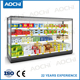 New style fruit display refrigerator commercial fridge commercial meat freezer for hypermarket