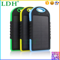 Dual USB Portable Mobile Power Bank 5000mah Solar Battery Charger With LED